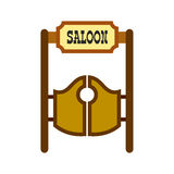 Old western swinging saloon doors icon Royalty Free Stock Photo