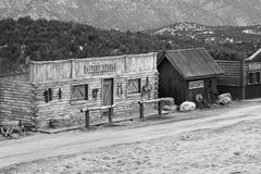 Old Western town. In the mountains of colorado stock photography