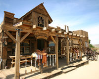 Old western town. In pioneertown, california royalty free stock photos