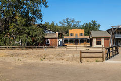 Old Western Town. A western cowboy town used as a movie set for television and cinema Royalty Free Stock Photos