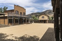 Old Western Town Movie Set Buildings. Historic wild west movie set buildings owned by US National Park Service in the Santa Monica Mountains National Recreation Stock Photography