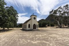 Old Western Town Movie Set Church. Small historic movie set church owned by US National Park Service at Paramount Ranch in the Santa Monica Mountains National royalty free stock image