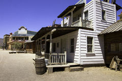 Old Western Town Movie Studio Buildings. Old wild west American Western town movie studio set  buildings Royalty Free Stock Photo