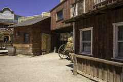 Old Wild Western Town Movie Studio Buildings Stock Photo