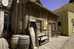 Old Western Town Movie Studio Buildings Royalty Free Stock Photo