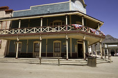 Old Western Town Movie Studio Buildings. Old wild west American Western town movie studio set buildings royalty free stock image