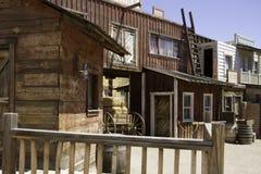 Old Western Town Movie Studio Buildings. Old wild west American Western town movie studio set  buildings Stock Photo