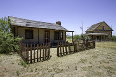 Old Western Town Movie Studio Home Building. Old wild west American Western town movie studio set home buildings. Arizona movie set used for Tombstone, The Quick Royalty Free Stock Photos