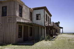 Old Western Town Movie Studio Buildings Stock Photo