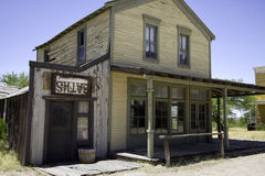 Old Western Town Movie Studio Buildings. Old wild west American Western town movie studio set home buildings. Arizona movie set used for Tombstone, The Quick and Royalty Free Stock Image