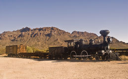 Old Western Train. This is a picture of an old western train outside of Tucson, Arizona Royalty Free Stock Photos
