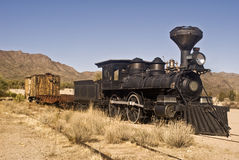 Old Western Train. This is a picture of an old western train outside of Tucson, Arizona Royalty Free Stock Image