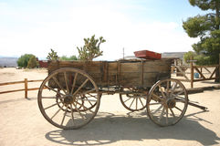 Old Western Wagon Stock Photography