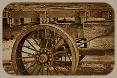 Western Wagon Wheel Royalty Free Stock Image