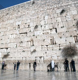 Old western wall in jerusalem Stock Photo