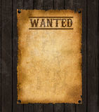Old Western Wanted Poster Stock Photos
