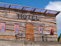 Old western Wild West hotel. Old traditional American western Wild West hotel wooden house Royalty Free Stock Photography