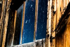 Old western window in Montana royalty free stock photography