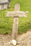 Old western wood grave cross Stock Images