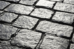 Cobblestone. Old wet cobblestone - nice background Stock Image