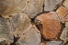 Old, Wet, Ragged Stone Wall Texture. Background Royalty Free Stock Photo