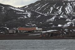Old Whaler Station at Antarctica. An Old Whaler Station at Antarctica stock photos