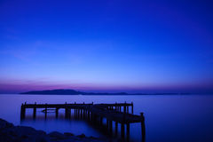Old wharf in Samed-Laemyha National park, Rayong, Thailand Royalty Free Stock Photos