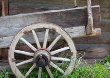 Old wheel. Wheel of an old Russian cart. Approx. early 20th century Royalty Free Stock Photos