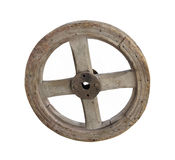 Old wheel from a cart isolated. royalty free stock photo