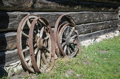 Old wheel from carts Royalty Free Stock Image
