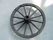 Old wheel of a chariot royalty free stock photos