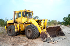 Old wheel loader bulldoze Stock Image