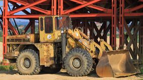 Old Wheel Loader. Old rusty Russian Wheel Loader Stock Photography