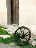 Old wheel in medival fortress of Rasnov Royalty Free Stock Image