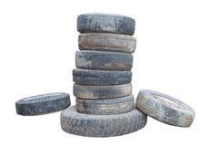 Old wheel stack Royalty Free Stock Photos
