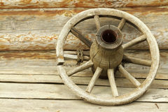 The old wheel Stock Photography