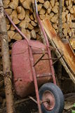 Old wheelbarrow Stock Images