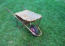 Old wheelbarrow Royalty Free Stock Photo