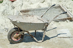 Old wheelbarrow Stock Image
