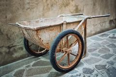 Old wheelbarrow Stock Photography