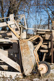 Old wheelbarrow with patina and rust Stock Photos