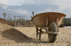 Old wheelbarrow Royalty Free Stock Photography