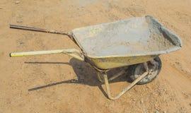 Old wheelbarrow on site Stock Photos