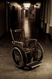 Old wheelchair royalty free stock image