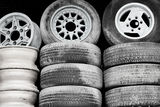 Old wheels Stock Image