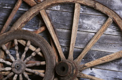 Old wheels from a cart Royalty Free Stock Photos