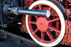 Old wheels of a steam train Stock Image