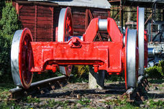 Old wheels of a steam train Royalty Free Stock Photos