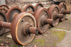 Old wheels of train Royalty Free Stock Image