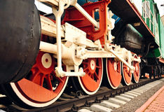Old wheels of train . Royalty Free Stock Photos